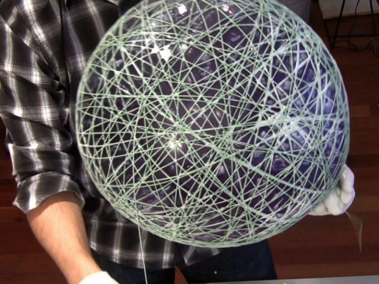 Лампа с ниток своими руками