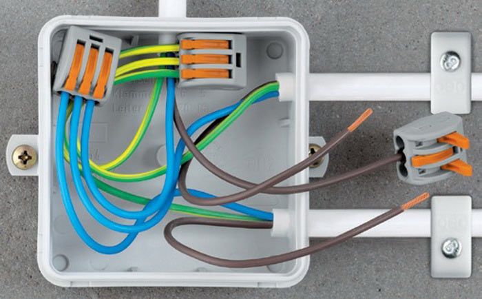 Способы соединения проводов в распределительной коробке