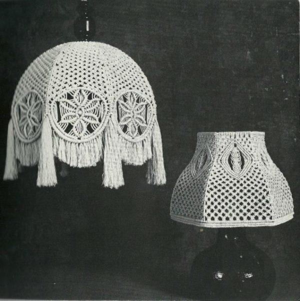 Изготовление абажуров из макраме своими руками