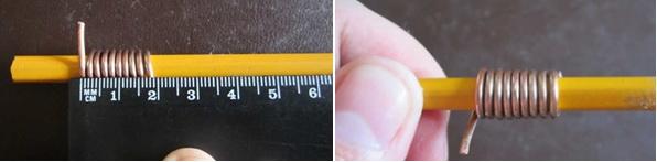 Измерение толщины провода с помощью линейки