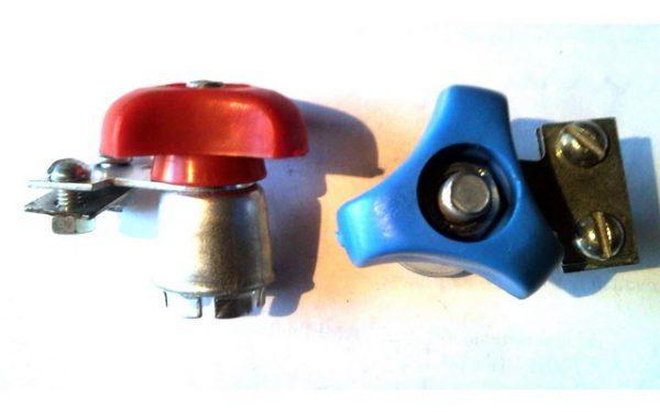 Клеммы для аккумулятора с цанговым зажимом