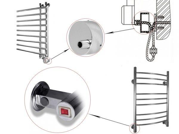 Как проходит подключение электрического полотенцесушителя