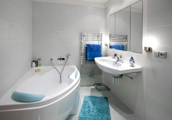 Размещение розеток в ванной комнате