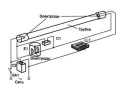 Схема подключения балласт для люминесцентных ламп