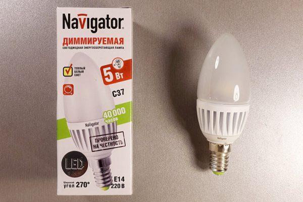Пример маркировки диммируемых ламп