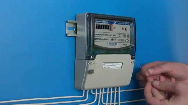 Трехфазный однотарифный счетчик электроэнергии ЦЭ6803В