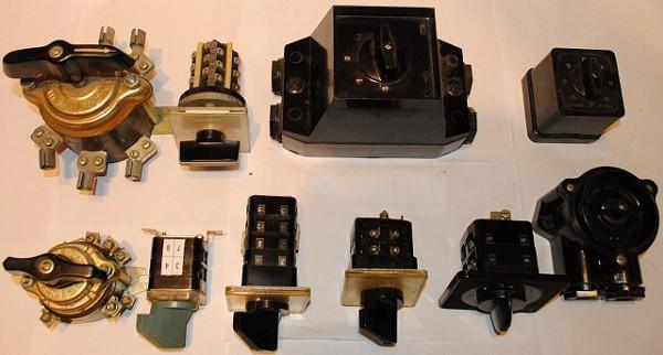 Различные виды пакетных выключателей