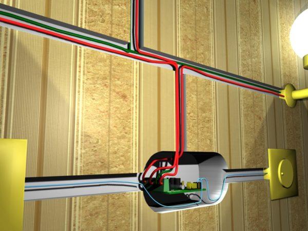 Подключение диммера к электросети