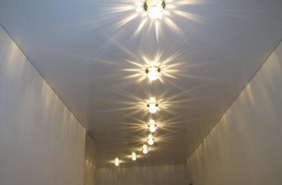 Светодиодные светильники на потолке