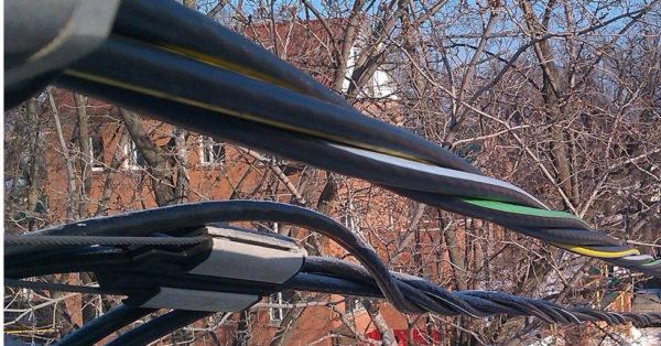 Монтаж СИП кабеля к линии электропередач