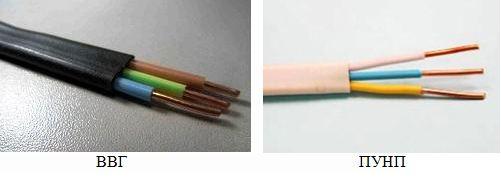 Виды кабелей для электропроводки