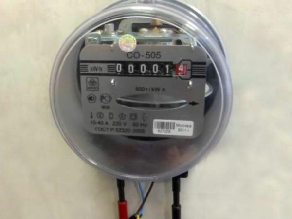 Индукционный счетчик электрической энергии