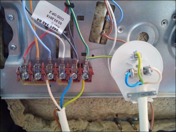 Подсоединение плиты к однофазной электросети