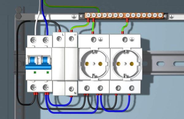 Подсоединение модульных розеток к электросети
