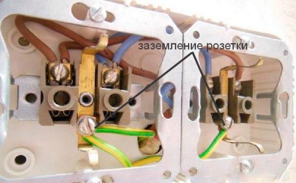 Особенности монтажа розетки с заземлением