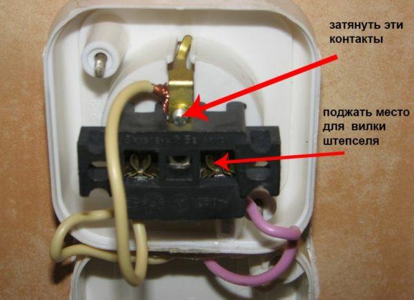 Устранение неисправностей в электророзетке