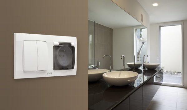 Дизайн розеток для ванной комнаты