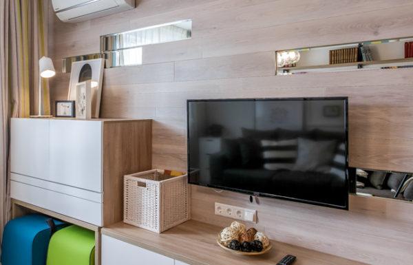Размещение телевизионных розеток в гостиной