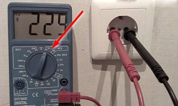Характеристики переменного тока в розетке