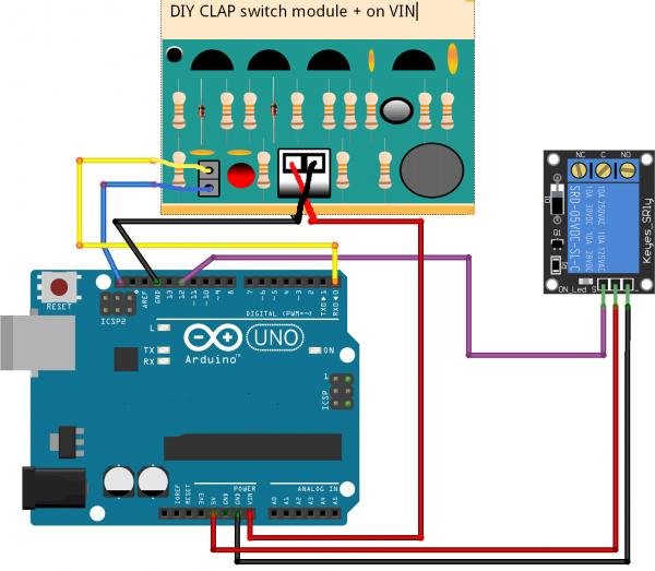 Хлопковый выключатель на Arduino
