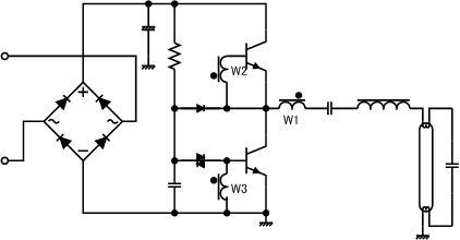 Схема регулировки яркости для люминесцентных ламп