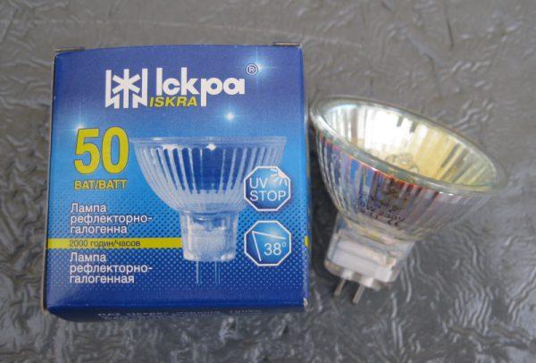 Галогенная лампа на 220 вольт
