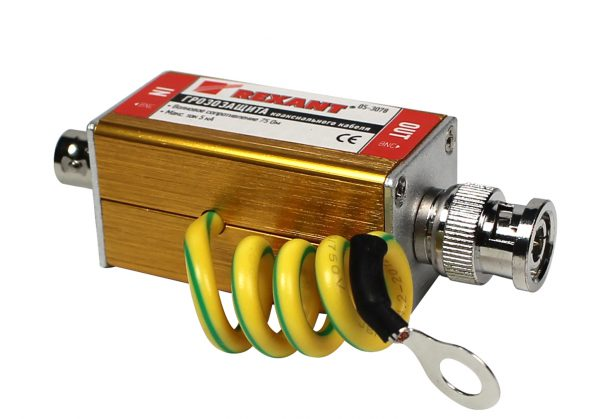 Устройство защиты коаксиального кабеля от грозовых разрядов