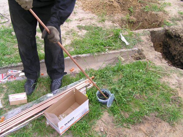 Монтаж модульно-штыревой системы заземления