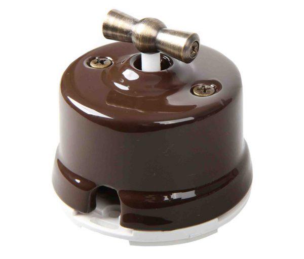 Накладной перекрестный выключатель  поворотного типа