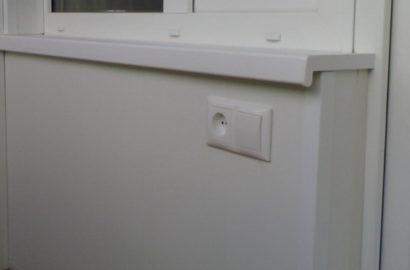 Установка балконной розетки