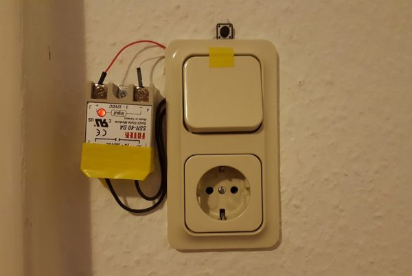 Самодельный Wi-Fi выключатель света