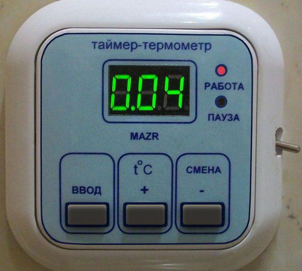 Таймер с датчиком температуры