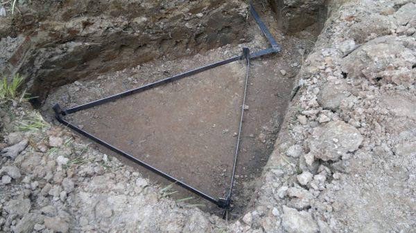 Треугольный контур заземления для бани