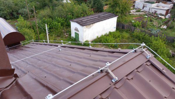 Защита зданий от молний сетчатого типа