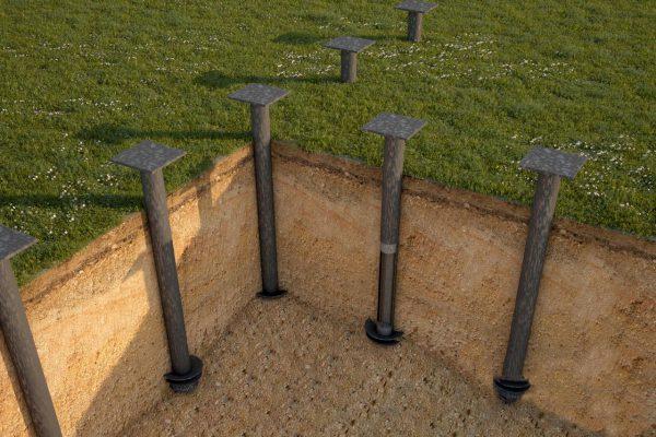 В качестве естественного заземления могут использоваться металлические сваи фундамента