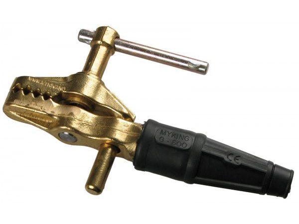 Клемма для заземления сварочного аппарата типа струбцина