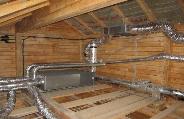 Монтаж системы вентиляции в частном доме