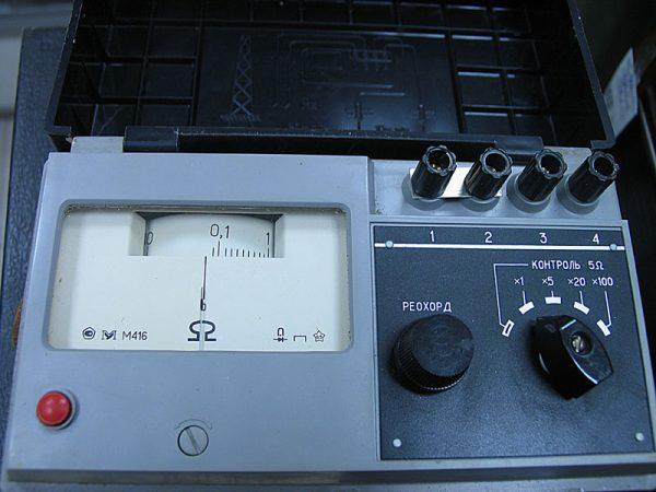 Прибор для измерения сопротивления М-416