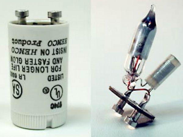 Устройство стартера для люминесцентных ламп