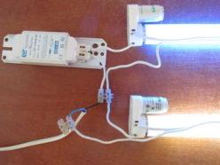 Подключение двух ламп к одному дросселю