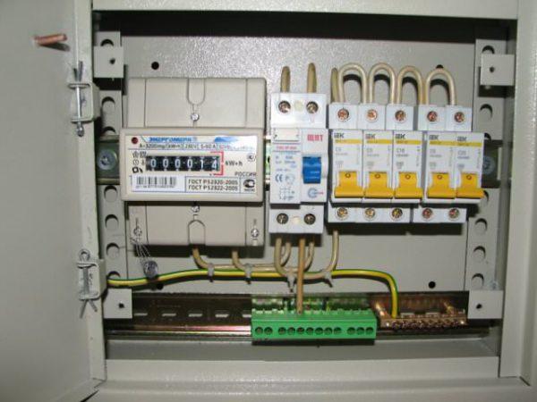 Подсоединение проводника заземления в электрощите