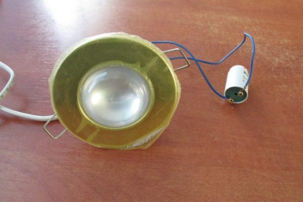Проверка работы стартового устройства для люминесцентных ламп