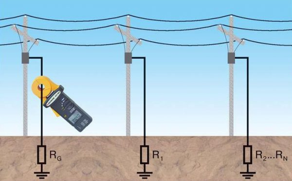 Проверка заземления столбов электропередач