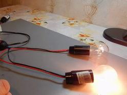 Варианты подключения источников света