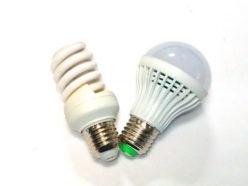 Сравнение энергосберегающей и светодиодной ламп