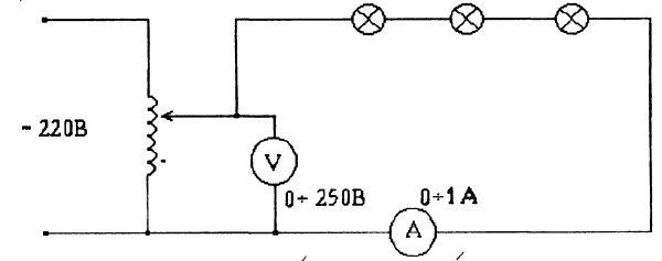 Схема последовательного соединения источников света