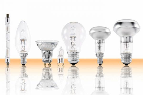 Основные виды галогенных ламп