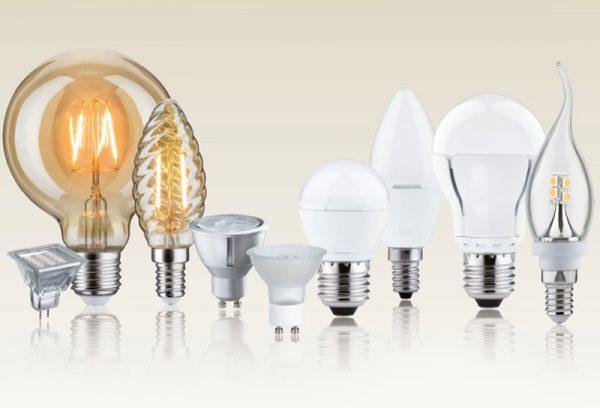 Виды светодиодных лампочек