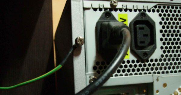 Подсоединение заземления к корпусу компьютера