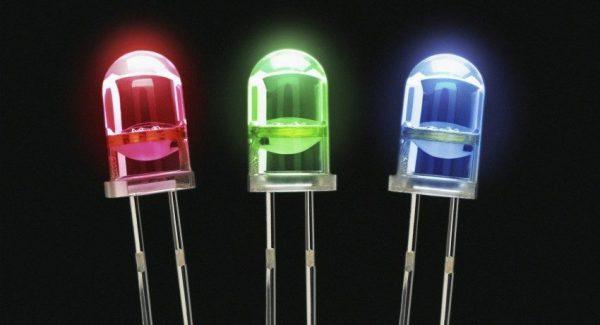 Красные зеленые и синие светодиоды